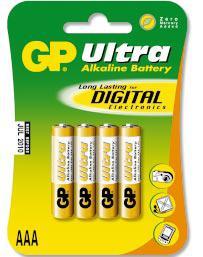 Alkaline Ultra AAA                    GP 24AU-U4, battery, batteries