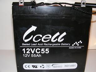 12v 55ah SLA Battery             12VC55-FP-06, battery, batteries