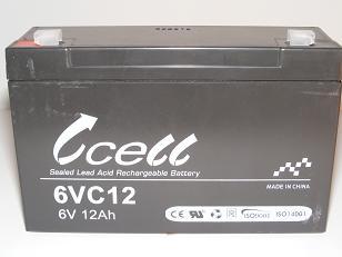 6v 12ah SLA Battery               6VC12-FO-01