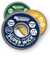 Super Wick #3 Green, for Lead Free Solder, 5ft             425-LF