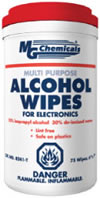 Multi Purpose Alcohol Wipes in  Pop Up Tub                8241-T