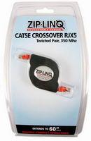 Ziplinq® Retractable Crossover CAT5 Gigabit Network Cable              ZIP-DATA-RJX