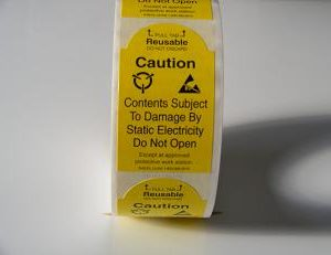 2″ x 3″ Static Warning Labels w/Pull Tab    S-6515