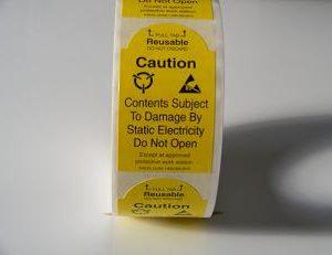 2″ x 3″ Static Warning Labels w/Pull Tab    S-6515