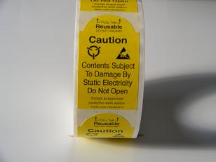 "2"" x 3"" Static Warning Labels w/Pull Tab    S-6515"