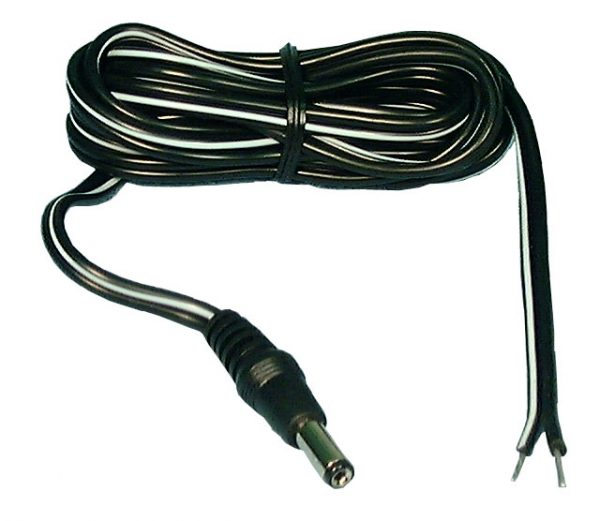 DC COAXIAL CORD 2.5MM, 6FT