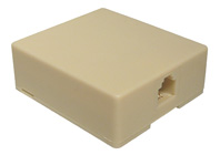 SURFACE MOUNT MODULAR WALL JACK, SINGLE, 8P8C   12-225-0