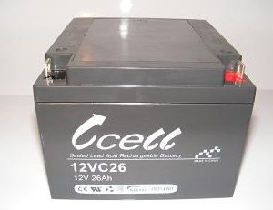 12v 26ah SLA Battery    12VC26-FP-01, battery, batteries