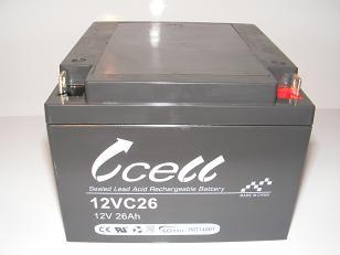 12v 26ah SLA Battery    12VC26-FP-01, battery, batteries