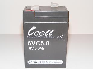 6v 5ah SLA Battery   6VC5.0-FO-02