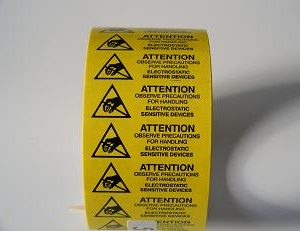 5/8″ x 2″ Static Warning Labels, 500/Roll       S-6516