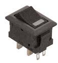 ROCKER SWITCH, SPST 10A