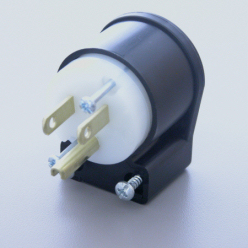 15 Amp 125 Volt Plug, Hospital Grade, Transparent, Right Angle     8215TRA