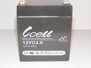 12v 4ah SLA Battery              12VC4.0A-FO-01, battery, batteries