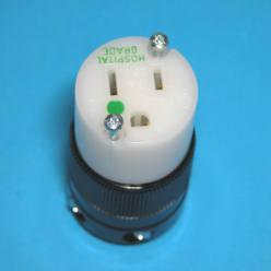 15 Amp 125 Volt Connector, Hospital Grade                 8219
