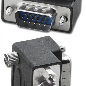 VGA Port Protector, DB15HD M/F, R/A     AD-DH15MFU