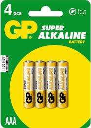 Alkaline Super AAA        GP24A-U4 , battery, batteries