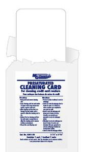 Card Swipe Cleaner for Credit Card Readers, 50/pkg          8301-50