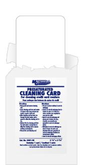Card Swipe Cleaner for Credit Card Readers, 50/pkg          8301-50