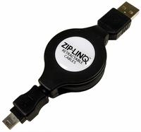 Ziplinq® Retractable USB 2.0 Mini5 Pin Cable           ZIP-USB-C05