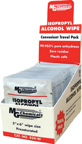 Isopropyl Alcohol Wipe 25/pk    824-WX25