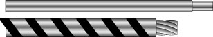 HOOK-UP WIRE SEMI RIGID PVC INSULATION 22AWG Black