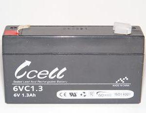 6v 1.3ah SLA Battery   6VC1.3-FO-01