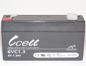 6v 1ah SLA Battery    6VC1.0-FO-01