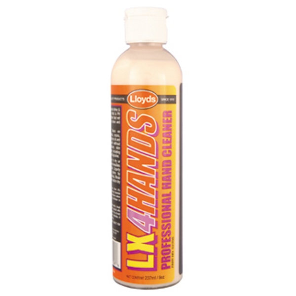 LX4 Hands – Hand Cleaner 237 ml (8 oz) w/scubbers