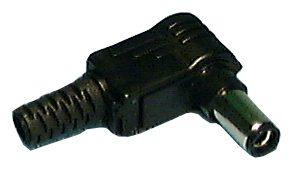 Coaxial Power Plug, 2.1mm, R/A