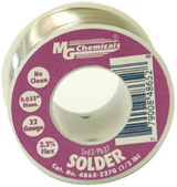No Clean Leaded Solder 227g .05″ Dia