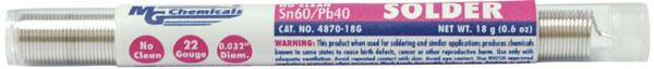 No Clean Leaded Solder 22 gauge Pocket Pack  4870-18G