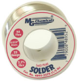 Leaded Solder, 60% tin, 40% lead, 1/2 lb (227 g), 0.032″ dia., 22 gauge   4895-227G