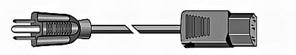 Power Cord, Unshielded, 16ga, 125v   533   6.7ft
