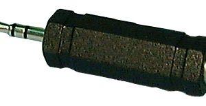 Adapter, 1/4″ Stereo Phone Jack to Mini Stereo 1/8″ phono plug     558A-B