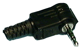 Phone Plug, R/A Stereo 2.5mm Plug