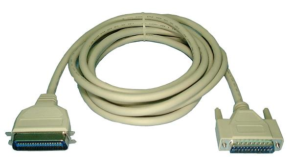 IEEE1284 Printer Cable,  DB25M to CEN36M. 6ft