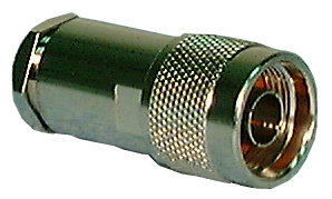 Male N Connector - Clamp type with Solder Pin, RG8/U