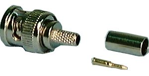 BNC Connector, BNC Male, 3pc , 974B Philmore