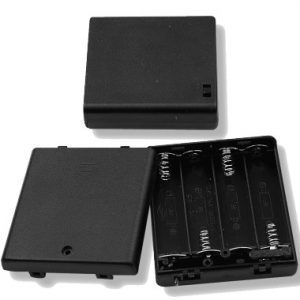 Battery Holder, (4) AA Cells with cover