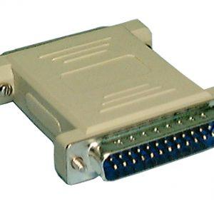 NULL Modem Adaptor, Standard DB25M to F