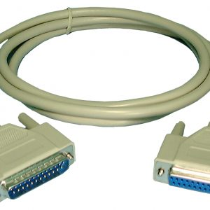 RS232 Cable, DB25M/F, 10ft