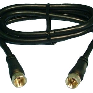 RG59/U VIDEO JUMPER CABLE 1′, GOLD PLATED CONNECTOR, MOLDED,  PHILMORE CBF1G-B