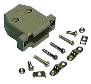 DB25 Hood (shells) with Hardware, Plastic