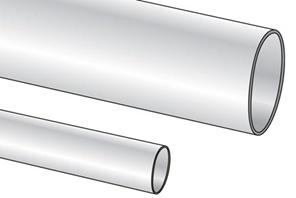 Heat Shrink Tubing, 1.55mm ID, Natural, PK of 50 2FT Pcs