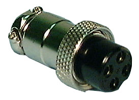 Chassis Mount Connector, 4 Pin
