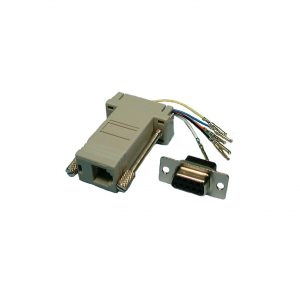 Interface Adaptor, DB9 Female to RJ45, 8P8C