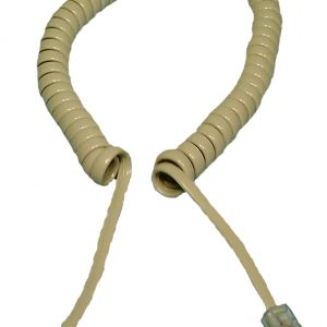 Coiled Handset Cord, 14ft, Ivory