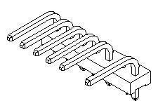 3 Pin Right Angle Pin Flat Header        09-66-5033