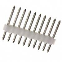 10 Pin, Single Row, Straight Header, .100″ (2.54mm)  22-03-2101